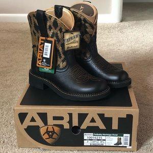Fatbaby Ariat boots Vintage Black/ Gold Blanket